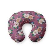 AllTot Nursing Pillow Cover in Plum Teal Floral