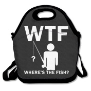 Wheres The Fish Multifunctional Lunch Tote Bag Carry Box