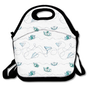Paper Boats Planes Multifunctional Lunch Tote Bag Carry Box