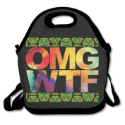 Colourful Wtf Pattern Multifunctional Lunch Tote Bag Carry Box