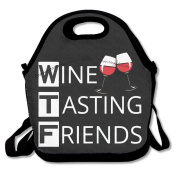 Wine Tasting Friends Multifunctional Lunch Tote Bag Carry Box