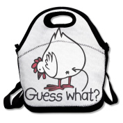 Chicken Butt Guess What Multifunctional Lunch Tote Bag Carry Box
