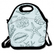 Fantasy Marine Life Pattern Multifunctional Lunch Tote Bag Carry Box