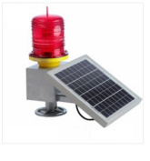 Solar Marine Aviation Warning Light - High Output - High Capacity - RED LED Flashing or Constant On