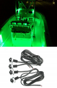 4x Green LED Boat Light Waterproof 12v Deck Storage Kayak Bow Trailer Bass ~ Shadz_LED