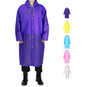 Portable Adult Rain Poncho, Opret Reusable Raincoat with Hoods and Sleeves, Durable, Lightweight and Perfect for Outdoor Activities, Size 110cm by 60cm
