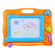Kids Drawing Magnetic Writing Board - 3 Colours Zone Craft Art Erasable Toy for Children Toddler Skill Development