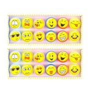 TOYMYTOY 24Pcs Plastic Stamps Emoji Stampers