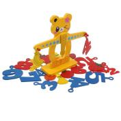 MonkeyJack Wood Building Balancing Blocks Number Puzzel Developmental Toys Add Subtract Learning Tool