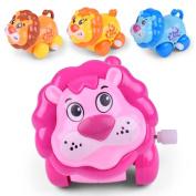Leedford Education Toys For Boys and Girls, New Clockwork Cute Toy Cartoon Lion Clockwork Car Learning Tools
