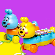 Forfar Children 's colourful hand piano pull animal hand piano early music instrument Enlightenment puzzle music toys