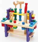 Wooden toy Tools set Workbench Construction Carpentry woodworking kit Intellectual education for kids