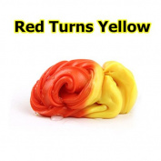 Dulcii Slime Cotton Mud Colour Changing Stress Relief Plasticine Modelling Clay, Fluffy Floam Toys Scented Stress Relief No Borax Kids Toy Sludge Toy, Red Turns Yellow