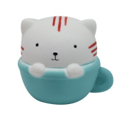 Slow Rising Kids Toy, Hunzed New Jumbo Cute Cup Cat Cake Cream Scented Cake Toy Abreact toy