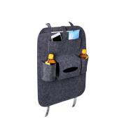 VORCOOL Car Seat Back Organiser 6-Pocket Kids Toys for iPad Tissue Box Pen