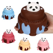 Slow Rising Kids Toy, Hunzed New Jumbo Panda Cake Cream Scented Cake Toy Soft Phone Strap Abreact toy