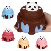 Slow Rising Kids Toy, Hunzed New Jumbo Panda Cake Cream Scented Cake Toy Soft Phone Strap Abreact toy
