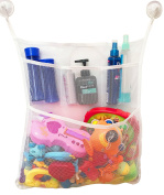 Tidy Bag Baby Bath Toy Organiser with 3 Extra Pockets for Soaps & Shampoos with 6 Stikers