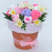 Nikki's Deluxe New Baby Blossom Clothing Bouquet - Pink