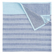 Elegant Baby Family Baby Soft Muslin Blanket, One Size, Blue Stripe