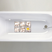 Decdeal 6pcs 3D Bathtub Stickers Waterproof Self-adhesive Bath Tub Tattoos Wall Desk Floor Decor