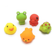 NACOLA Bath Toy£¬5 Pcs Baby Bathing Toys With Animal Mouth Will Be Sprayed Water