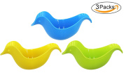 CC-US 3PCS Baby Bath Rinse Cup Floating Duck Toy Stacking Bathing Toy