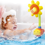 Swimming Pool Bathtub Toys,Sunflower Spray Bath Toy Kids Children Baby Shower Bathing Tub Fountain Toy Gift