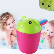 Lanlan 1Pcs Baby Plastic Bear Shower Set Water Scoop and Wash Hair Shower Bath Cup Bathtub Toys