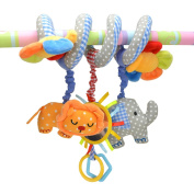 TOYMYTOY Spiral Toy,Baby Activity Music Toy,Stroller Toy,Bed Hanging Toys,Car Seat Toy