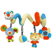 CdyBox Multi-function Colourful Bed & Stroller Toy Activity Spiral for Baby