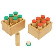 2017 New Arrival Montessori Materials Sensory Toys Sound Boxes Barrels Infant Hearing Training Baby Montessori Educational Toys