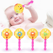NACOLA 4 Pcs Early Childhood Education Music Toys,Manual Rattles For Baby Children