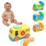 Putars Cute Baby Toys Music Cartoon Bus Phone Educational Developmental Kids Toy Gift