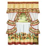 Charming Sunflower Garden Curtain Tier Set 140cm X 60cm , 140cm X 60cm