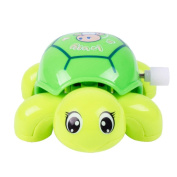 Inverlee Clockwork Funny Toy Cartoon Puppy On The Chain OF Small Car Toys Clockwork Car Educational Toys