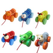 Pull Toys,NACOLA Caterpillar Design Baby Push Pull Toy for Toddler Learning Walker