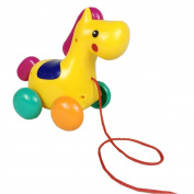Pull Toys,NACOLA Cute Pony Design Baby Push Pull Toy for Toddler Learning Walker