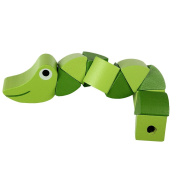 Wiggling Worm Wooden Grasping Toy for Baby,Pre-School Early Development Toys,Baby Shape/Colour Sensory Movement Developing Toy