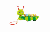 Lightahead Dragging Caterpillar, a Sound & Pulling Crawling Toy for Children & Toddlers