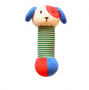 Infant Baby Kids Animal Soft Stuffed Plush Toy Rattle Lovely Dog