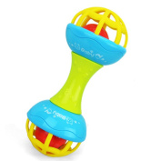 Lanlan Baby Explore and Rolling Around Toy Baby Rattle and Teether Developmental Baby Toys Yellow