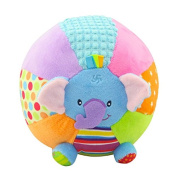 Plush toy rattle Hand Grasp discover ball musical baby soft ball stuffed Cute elephant animals Early Education for infant kids