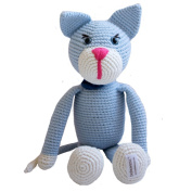 Organic Soft Baby Toys - Crocheted Mouse - Oliver the Cat