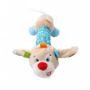 HS Baby Rattles Soft Plush Animal Model Handbell Rattles Handle Musical Toys