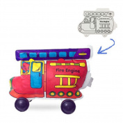Kids Early Development Art Craft DIY Moving Vehicle Colouring Toy Fire Engine Balloon Colour Present