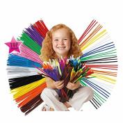 100Pcs/set Educational Toys Montessori Children Sticks Puzzle Craft Colourful Pipe Handmade DIY Toys