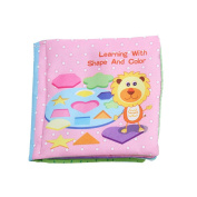 UNKE Baby's Soft Cloth Book Non-Toxic Fabric Educational Book ,Geometry