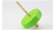 Wooden Spinning Top Toy Classic Pull Cord Tops Manual Spinning Gyro for Kids Adult £¨Green£
