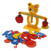 Jili Online Kids Balancing Scale Wooden Educational Toy Game Number Block Puzzle Balance Stacking Mathematics Toy